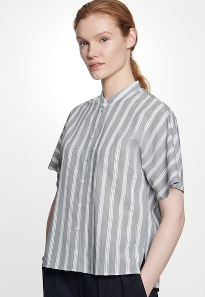 SEIDENSTICKER Bluse 'Schwarze Rose ' in grau, Modelansicht
