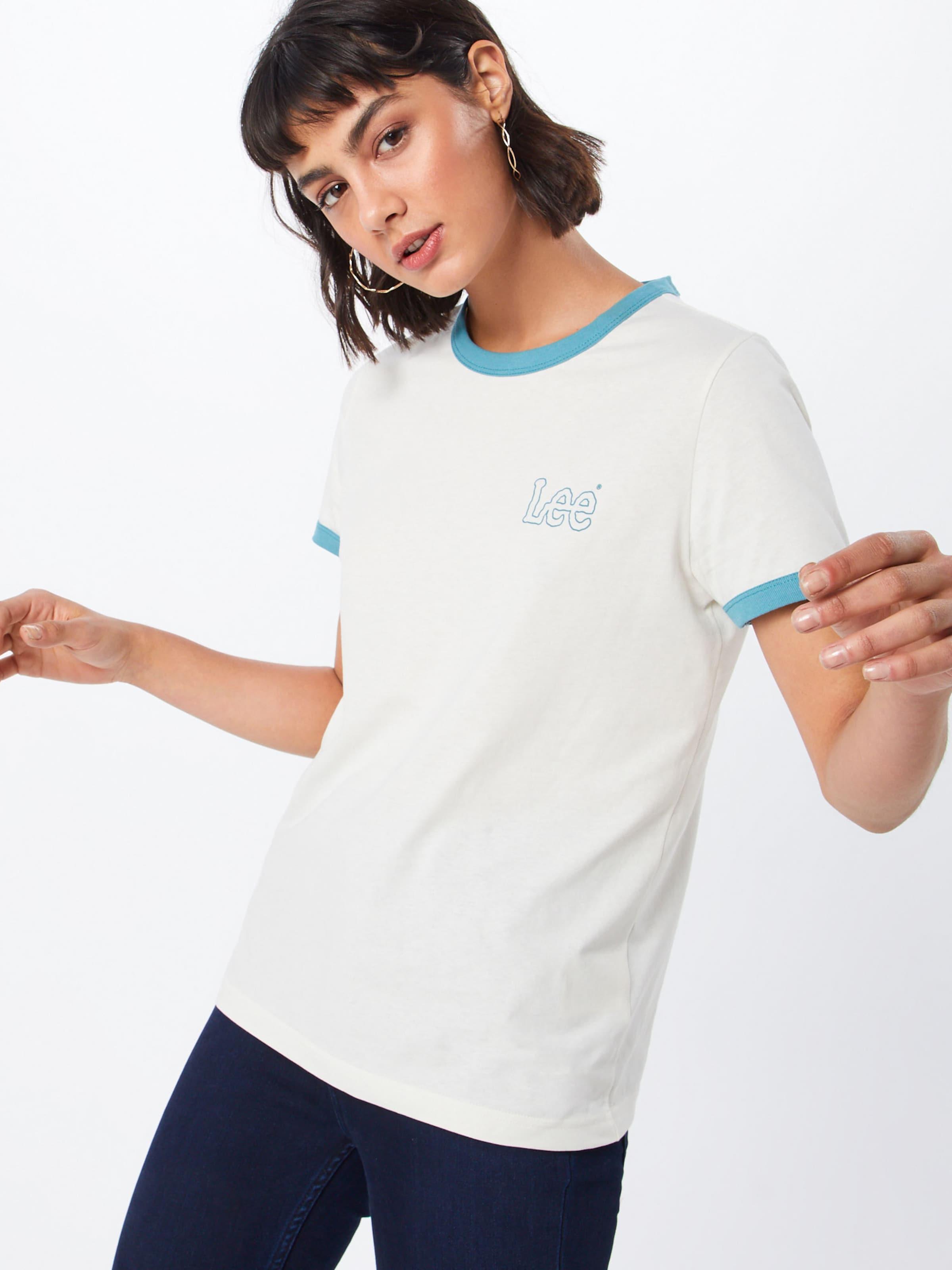 In In HellblauWeiß Lee 'ringer' Shirt In Lee Shirt 'ringer' Shirt HellblauWeiß 'ringer' Lee 4c35qjARL