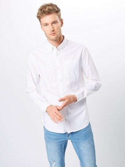 Dalykiniai marškiniai 'JJEOXFORD LOGO SHIRT L/S NOOS' iš JACK & JONES , spalva - balta: Vaizdas iš priekio