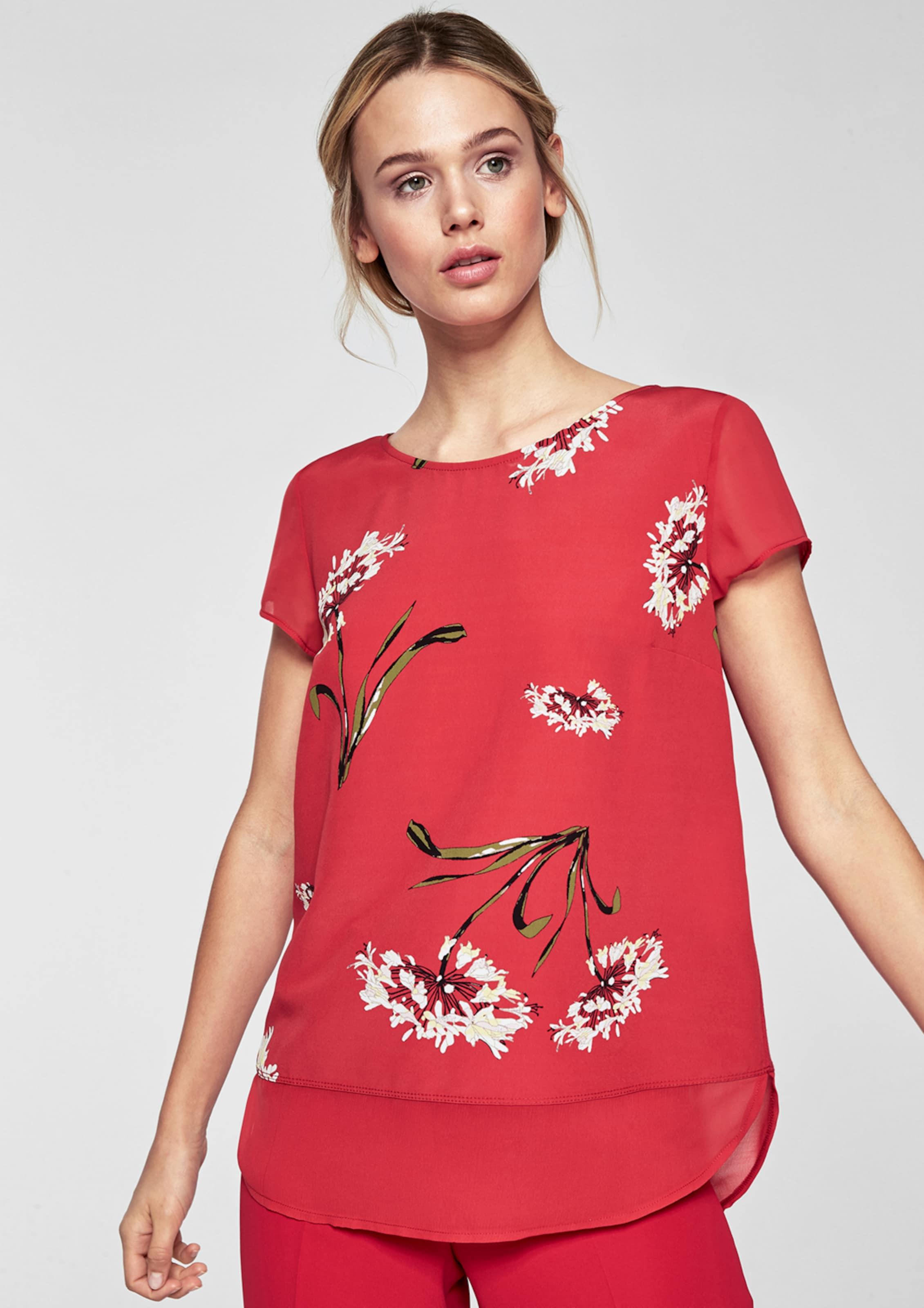 s.Oliver BLACK LABEL Bedrucktes Shirt im Lagen-Look Finden Große Online Die Offizielle Website Zum Verkauf Günstig Kaufen Top-Qualität Bilder Zum Verkauf zMUIi