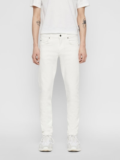J.Lindeberg Jay Solid Stretch Jeans in weiß: Frontalansicht