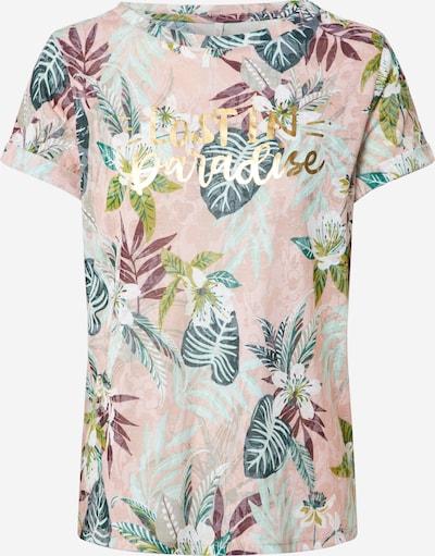 ONLY Shirt 'Rilla' in grün / rosa, Produktansicht