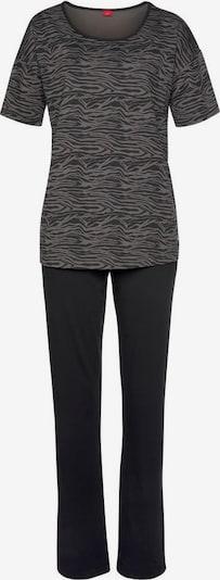 s.Oliver Pyjama in grau / schwarz, Produktansicht