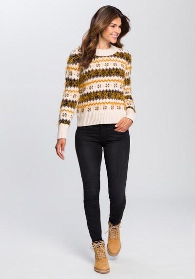 CAMEL ACTIVE Pullover in beige / goldgelb / taupe, Produktansicht