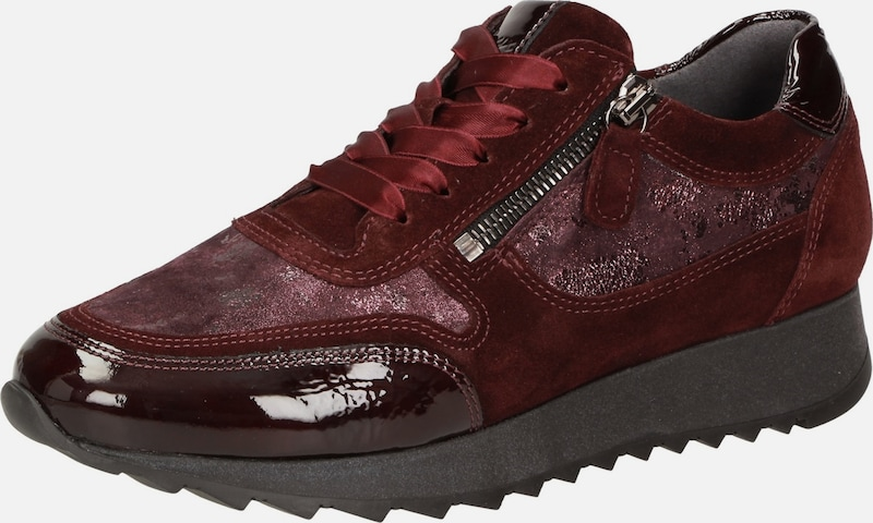 SIOUX Sneaker ' Oseka-701-J ' in weinrot: Frontalansicht