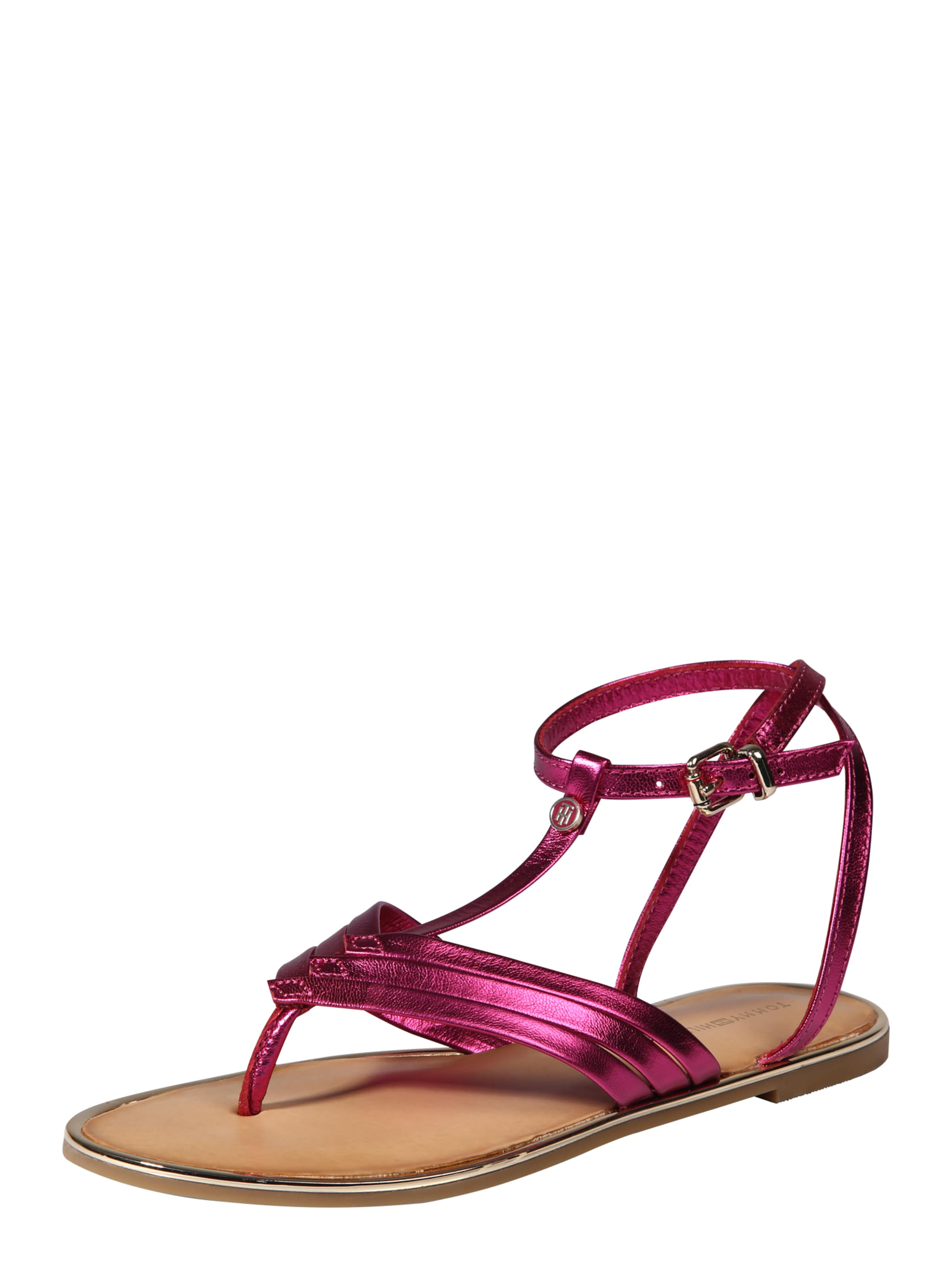 TOMMY HILFIGER Sandale mit T-Strap Hohe Qualität
