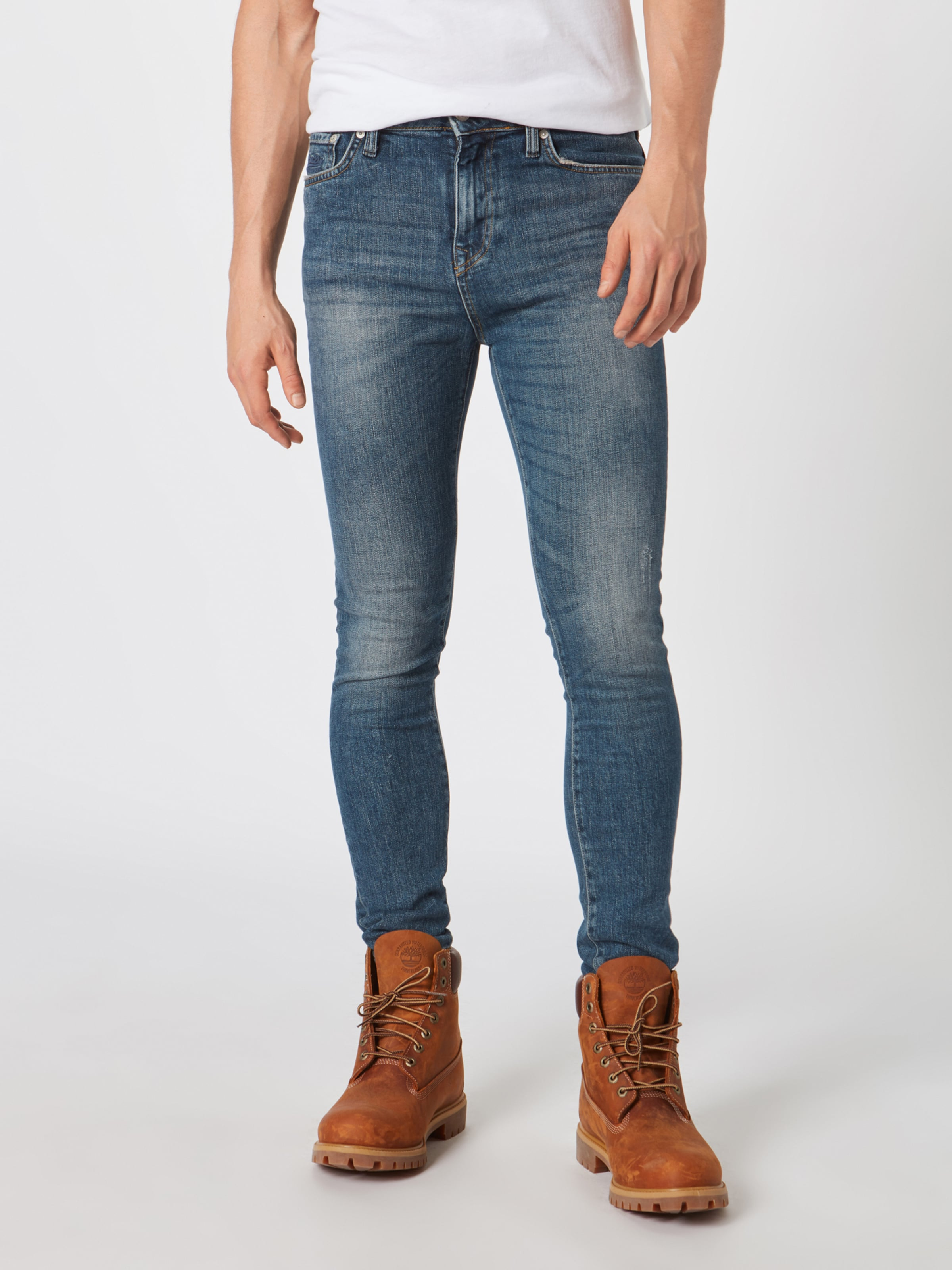 En Denim Superdry Jean Bleu 'travis' PwZiXulOkT