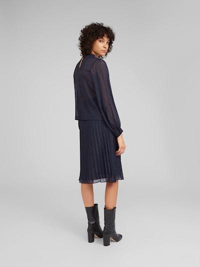 EDITED Bluse 'Nadette' in blau / dunkelblau: Rückansicht