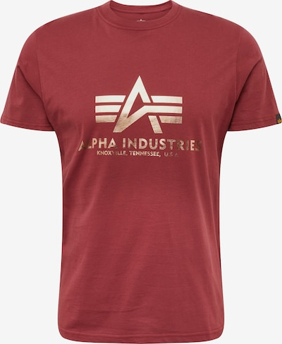 ALPHA INDUSTRIES Shirt in de kleur Pastelrood: Vooraanzicht