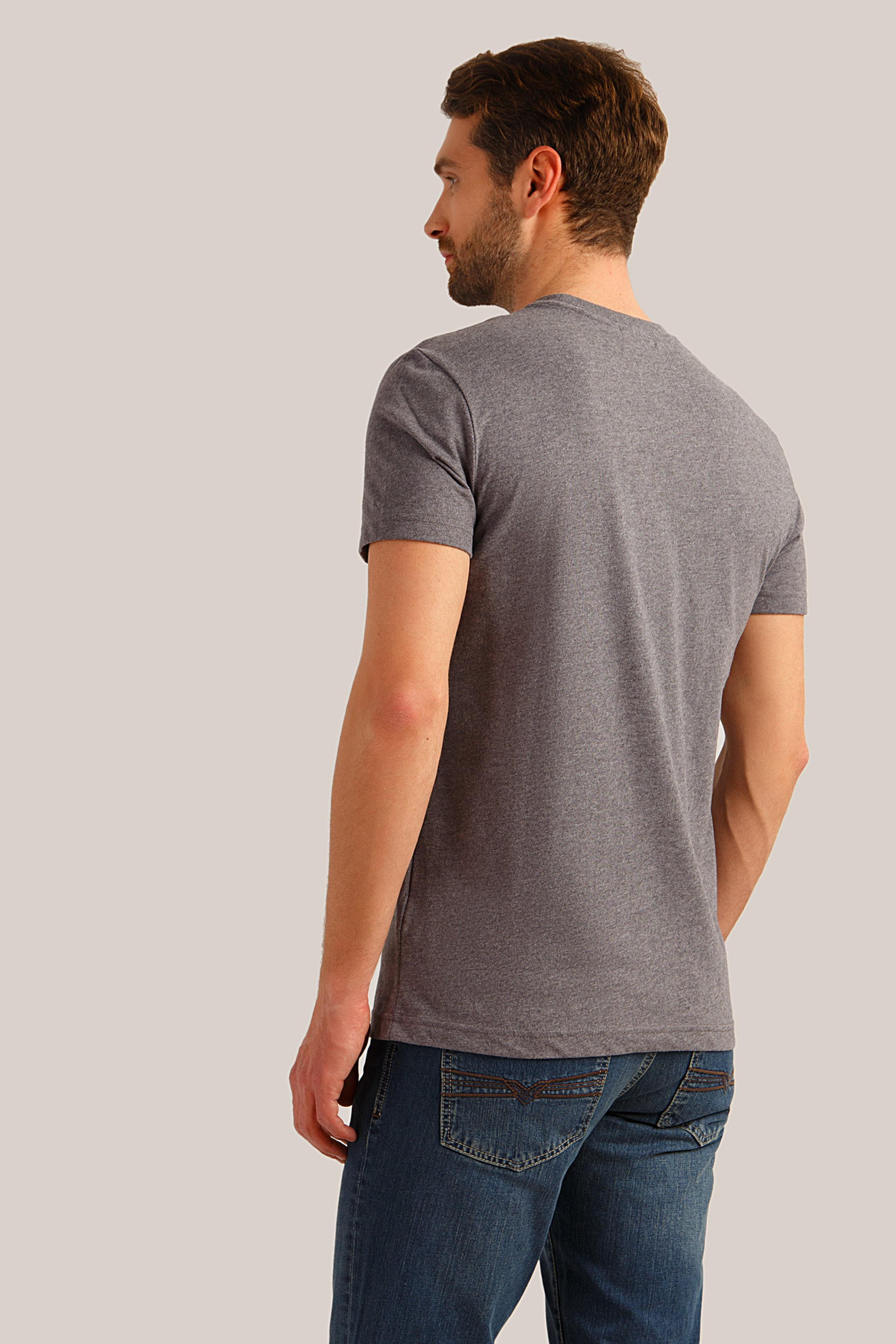T Finn In shirt Grau Flare 3j54qARL