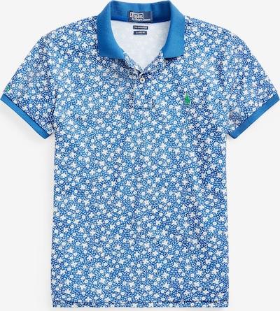 POLO RALPH LAUREN Poloshirt 'PRNT CLSC FT' in blau / weiß, Produktansicht