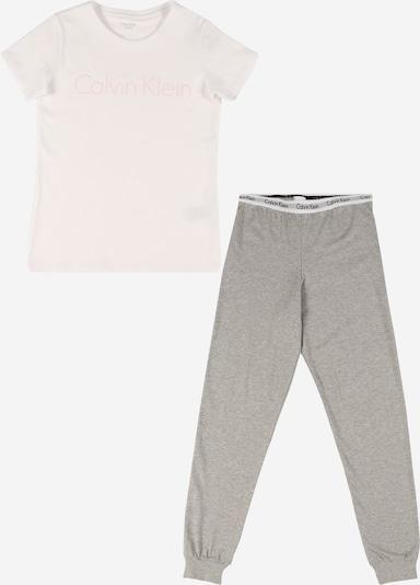 Calvin Klein Underwear Pyjamaset in grau / weiß, Produktansicht