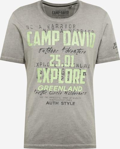 CAMP DAVID T-Shirt en anthracite / gris chiné / vert clair, Vue avec produit