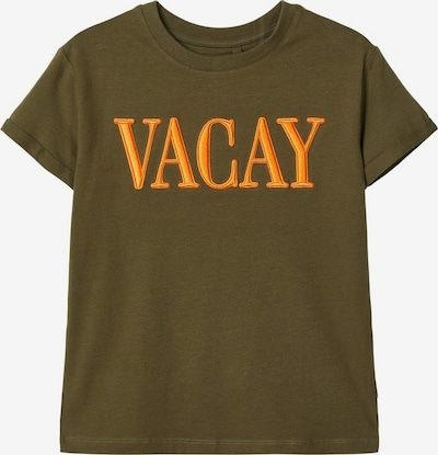 NAME IT T-Shirt in gelb / dunkelgrün: Frontalansicht