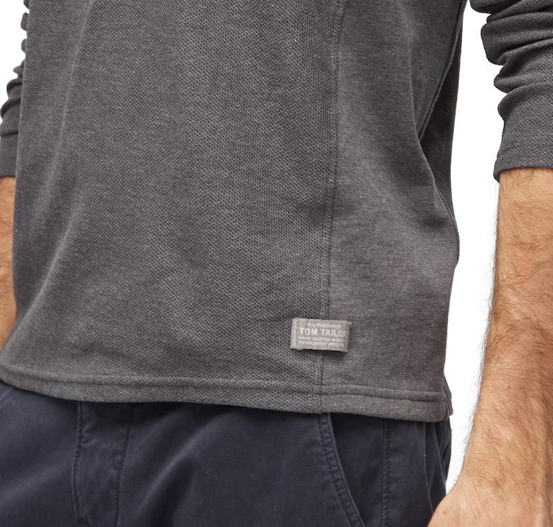 TOM TAILOR T-Shirt mit Struktur und Kapuze