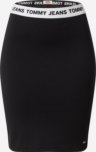Fustă Tommy Jeans pe negru / alb, Vizualizare produs