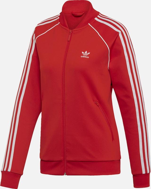 ADIDAS ORIGINALS Trainingsjacke in rot   weiß  Große Preissenkung