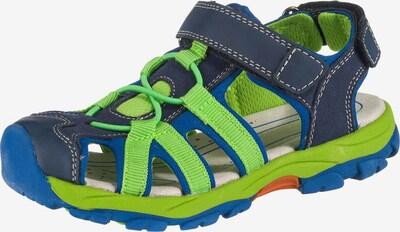 fullstop. Sandalen in blau / grün, Produktansicht
