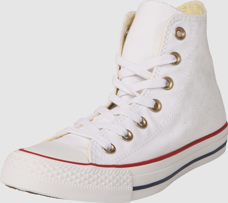 converse sneaker mit blumen stitching 39 chuck taylor all star hi 39 in wei about you. Black Bedroom Furniture Sets. Home Design Ideas