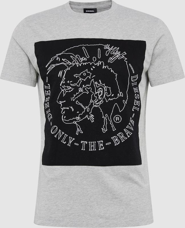 DIESEL T-Shirt 'T-Edward' mit Marken-Applikation vorne