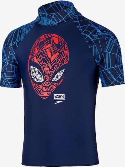 SPEEDO Schwimmshirt 'Spiderman' in blau / dunkelblau / rot / weiß, Produktansicht