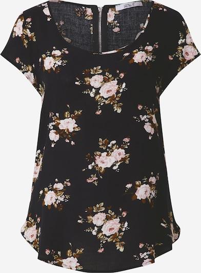 Hailys T-shirt 'Liane' en mélange de couleurs / noir, Vue avec produit
