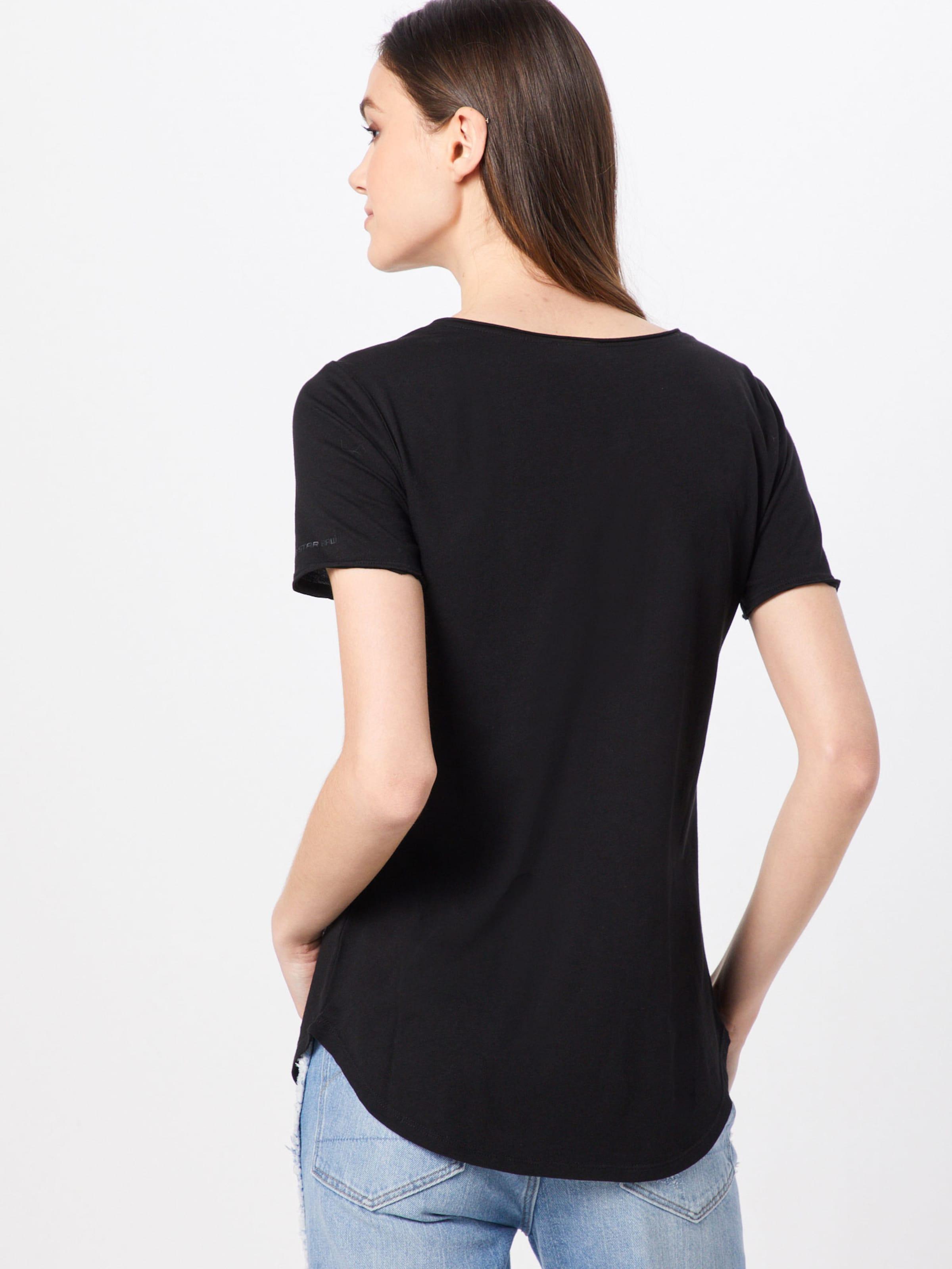 G star Mysid Slim Ss' In 'graphic Shirt Raw Schwarz R T Wmn 18 jL54AR