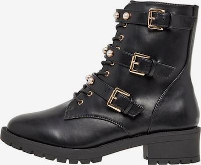Bianco Perlendetail Biker Boots in schwarz, Produktansicht