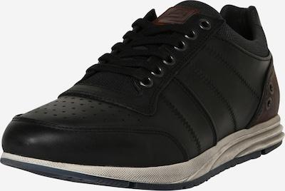 Sneaker low BULLBOXER pe negru: Privire frontală