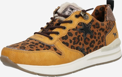MUSTANG Sneaker in braun / gelb, Produktansicht