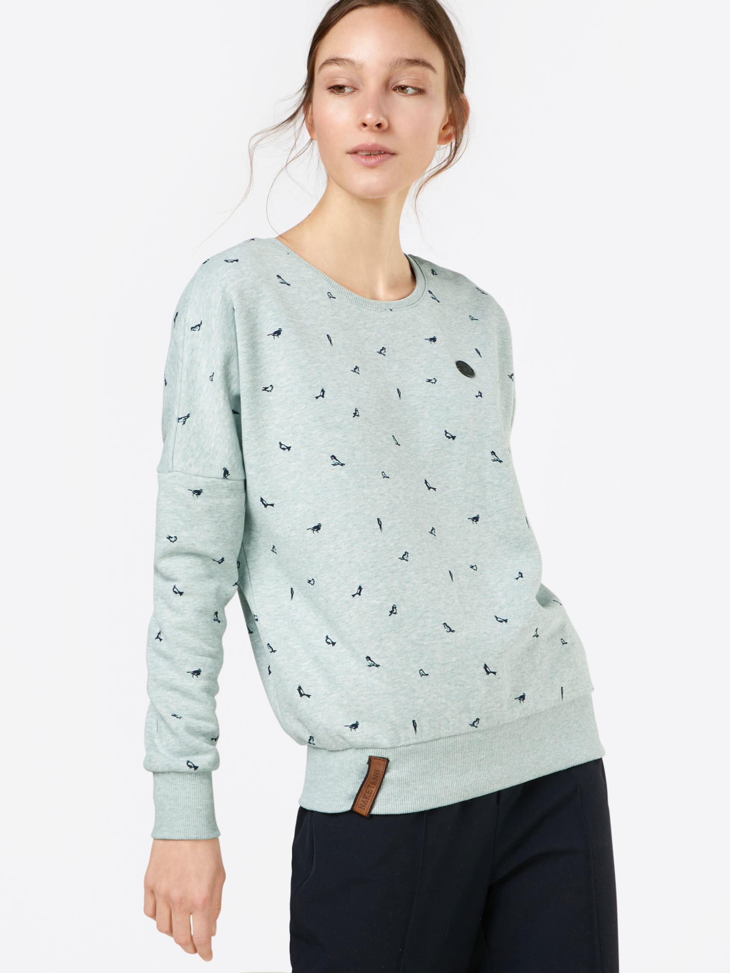 Naketano Sweater Sweater 'afterhour' Naketano In 'afterhour' Rauchblau 76ygbfIYv