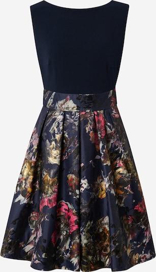 SWING Kleid in dunkelblau / gold / kirschrot, Produktansicht