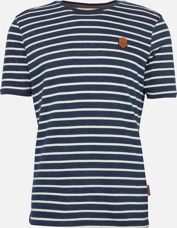MarineBlanc shirt T Naketano En Bleu zMVpSU