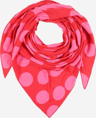 Zwillingsherz Tuch  'Minta' in pink / rot, Produktansicht
