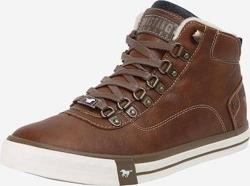 MUSTANG Sneaker high i brun