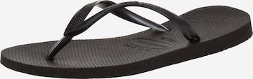 HAVAIANAS T-Bar Sandals 'Slim' in Black