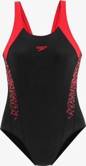 SPEEDO Badeanzug 'Boom' in rot / schwarz, Produktansicht