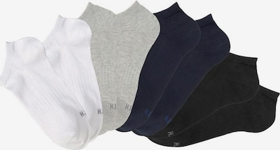 HIS JEANS Ankle socks in Marine / Light grey / Black / White, Item view