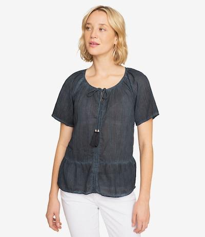 Soccx Crepe-Bluse in dunkelblau, Modelansicht