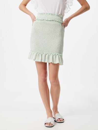 NA-KD Spódnica w kolorze miętowy / perłowo białym: Widok z przodu