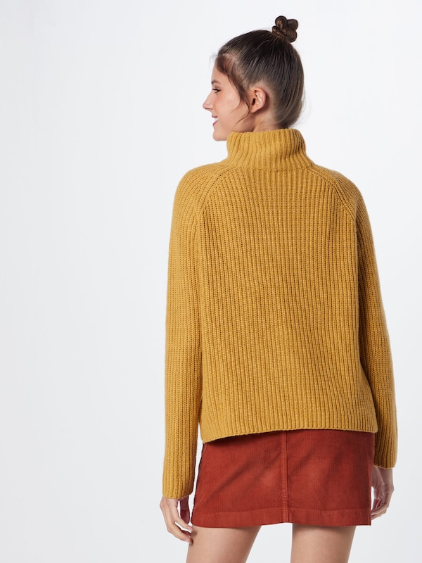 Moutarde Pull draft Re 'knit En over Turtleneck' USzVGMpq