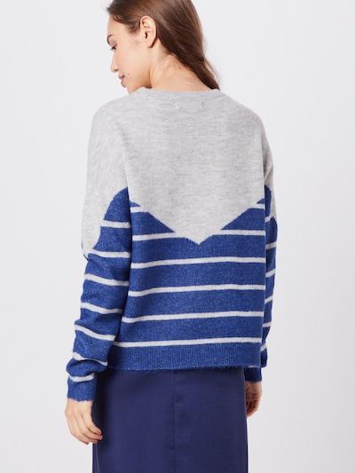 VERO MODA Sweter 'RANA' w kolorze niebieski / szarym: Widok od tyłu