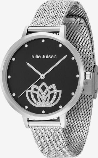Julie Julsen Uhr in schwarz / silber: Frontalansicht
