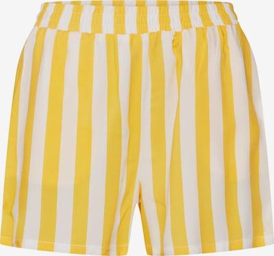 ONLY Spodnie 'LEA' w kolorze żółty / białym, Podgląd produktu