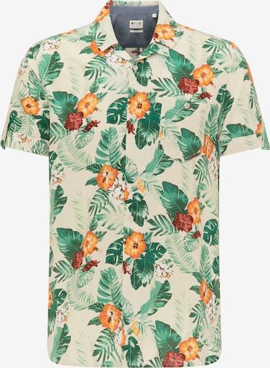 MUSTANG Hemd 'Chris Flower AOP' in beige / gelb / grün / rot, Produktansicht