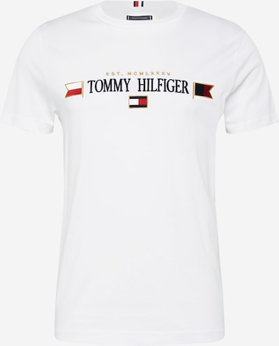 TOMMY HILFIGER Shirt 'MIRRORED FLAGS' in de kleur Navy / Rood / Wit, Productweergave