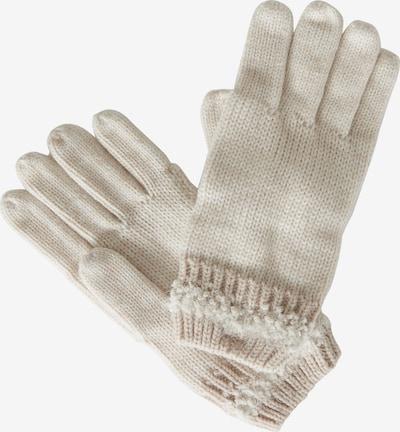 Cartoon Handschuhe mit Schmucksteinen in beige: Frontalansicht