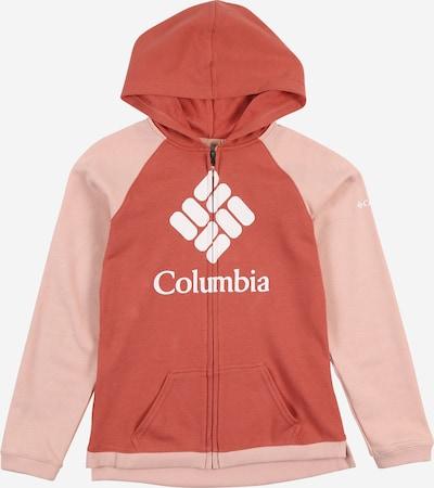 COLUMBIA Bluza rozpinana sportowa w kolorze różowy / czerwony / białym, Podgląd produktu