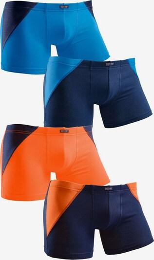 H.I.S Boxer (4 Stück), in blau / orange, Produktansicht