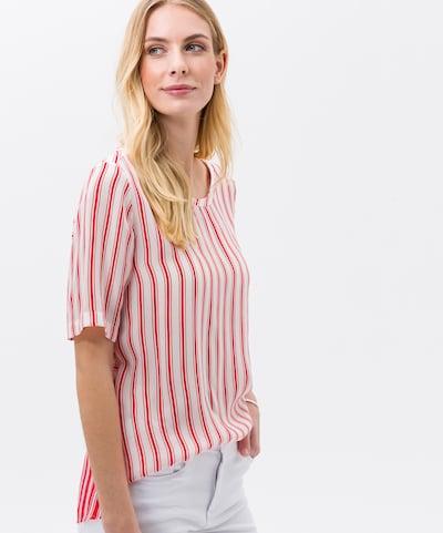 BRAX Bluse 'Velma' in rot / weiß, Modelansicht